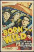 """Movie Posters:Action, Born to Be Wild (Republic, 1938). One Sheet (27"""" X 41""""). Action.. ..."""