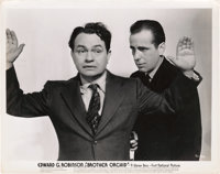 """Edward G. Robinson and Humphrey Bogart in """"Brother Orchid"""" (Warner Brothers, 1940). Photo (8"""" X 10"""")..."""