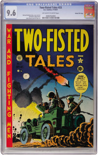 Two-Fisted Tales #23 Gaines File pedigree (EC, 1951) CGC NM+ 9.6 Off-white to white pages