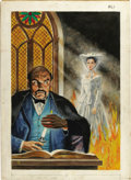 """Original Comic Art:Covers, Classics Illustrated #61 (Second Printing) """"The Woman in White""""Cover Painting Original Art (Gilberton, 1960)...."""