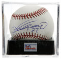 Autographs:Baseballs, Vladimir Guerrero Single Signed Baseball, PSA Mint 9. The Dominicansuperstar possesses one of the most thunderous bats in ...