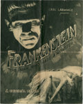 "Movie Posters:Horror, Frankenstein (Universal, 1931). Herald (16.5"" X 10.5"").. ..."
