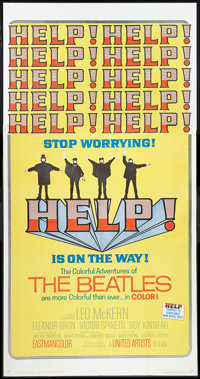 "Help! (United Artists, 1965). Three Sheet (41"" X 81""). Rock and Roll"