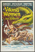 "Movie Posters:Fantasy, Viking Women and the Sea Serpent (American International, 1957).One Sheet (27"" X 41""). Fantasy.. ..."