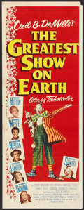 """Movie Posters:Drama, The Greatest Show On Earth (Paramount, 1952). Insert (14"""" X 36""""). Drama.. ..."""