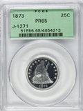 Patterns, 1873 25C Quarter Dollar, Judd-1271, Pollock-1413, High R.7, PR65PCGS....