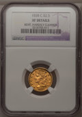 1838-C $2 1/2 --Bent, Harshly Cleaned--NGC. XF Details....(PCGS# 7697)