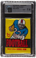 Football Cards:Boxes & Cases, 1976 Topps Football Unopened Pack GAI NM+ 7.5 - Possible PaytonRookie....