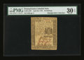 Colonial Notes:Pennsylvania, Pennsylvania April 25, 1776 30s PMG Very Fine 30 EPQ....