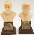 Baseball Collectibles:Others, 1963 Honus Wagner and Paul Waner Baseball Hall of Fame Busts Lot of2....