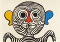 Fine Art - Work on Paper:Print, ALEXANDER CALDER (American, 1898-1976). Face. Colorlithograph . 30-1/4 x 43-3/4 inches (76.8 x 111.1 cm). Ed. 60/75.Si...