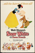 "Movie Posters:Animated, Snow White and the Seven Dwarfs (Buena Vista, R-1967). One Sheet (27"" X 41"") Style A and Stills (3) (10.25"" X 13.25""). Anima... (Total: 4 Items)"