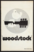 "Movie Posters:Rock and Roll, Woodstock (Warner Brothers, 1970). Pressbook (Multiple Pages, 11"" X17""). Rock and Roll.. ..."