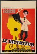 """Movie Posters:Comedy, The Great Dictator (United Artists, 1950s). Post-War Belgian (14"""" X 21""""). Comedy.. ..."""
