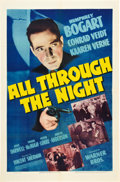 "Movie Posters:Action, All Through the Night (Warner Brothers, 1942). One Sheet (27"" X 41"").. ..."