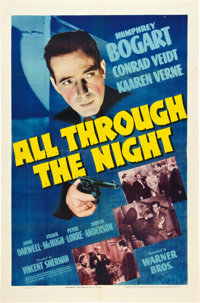 "All Through the Night (Warner Brothers, 1942). One Sheet (27"" X 41"")"