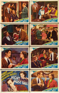 """Movie Posters:Thriller, Night Must Fall (MGM, 1937). Lobby Card Set of 8 (11"""" X 14"""").. ... (Total: 8 Items)"""