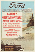 "Movie Posters:Documentary, Canada's Mountain of Tears (Goldwyn, 1919). Ford Educational WeeklyPoster (28"" X 42"").. ..."