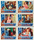 "Movie Posters:Film Noir, Out of the Past (RKO, R-1953). Lobby Cards (6) (11"" X 14"").. ..."
