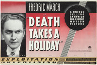 Death Takes a Holiday (Paramount, 1934). Pressbook (Multiple Pages)