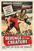 "Movie Posters:Horror, Revenge of the Creature (Universal International, 1955). One Sheet (27"" X 41"").. ..."