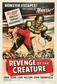 "Revenge of the Creature (Universal International, 1955). One Sheet (27"" X 41""). Horror"