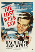 "Movie Posters:Drama, The Lost Weekend (Paramount, 1945). One Sheet (27"" X 41"").. ..."