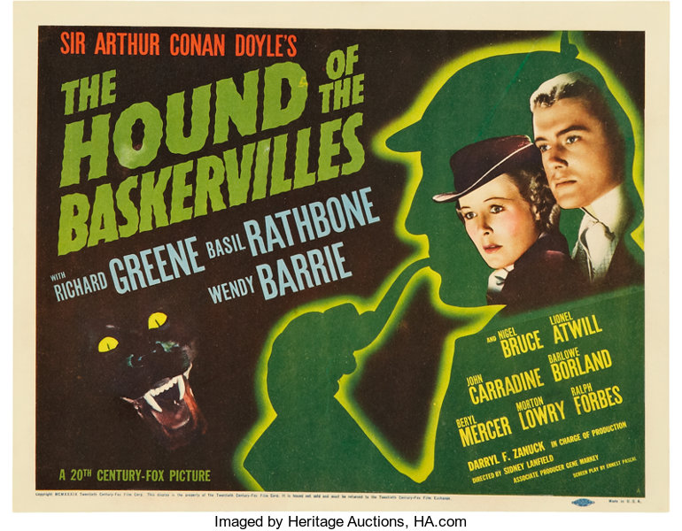 Hound of the Baskervilles title card