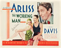 """Movie Posters:Romance, The Working Man (Warner Brothers, 1933). Autographed Half Sheet(22"""" X 28"""").. ..."""