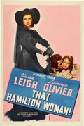 "Movie Posters:Drama, That Hamilton Woman (United Artists, 1941). One Sheet (27"" X 41"")....."