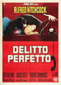 """Movie Posters:Hitchcock, Dial M For Murder (Warner Brothers, R-early 1960s). Italian 2 - Folio (39"""" X 55"""").. ..."""