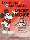 "Movie Posters:Animated, Mickey Mouse Exhibitor's Campaign Book (United Artists, early1930s). Pressbook (9"" X 12"", 48 pages).. ..."