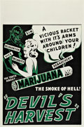"Movie Posters:Bad Girl, Devil's Harvest (Continental, 1942). One Sheet (27.75"" X 42"").. ..."
