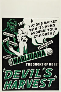 "Devil's Harvest (Continental, 1942). One Sheet (27.75"" X 42"")"