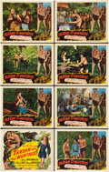 "Movie Posters:Adventure, Tarzan and the Huntress (RKO, 1947). Lobby Card Set of 8 (11"" X14"").. ... (Total: 8 Items)"