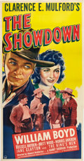 "Movie Posters:Western, The Showdown (Paramount, 1940). Three Sheet (41"" X 81""). Western.. ..."