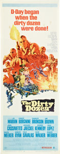 "Movie Posters:War, The Dirty Dozen (MGM, 1967). Insert (14"" X 36"").. ..."