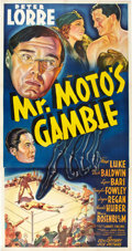 "Movie Posters:Mystery, Mr. Moto's Gamble (20th Century Fox, 1938). Three Sheet (41"" X81"").. ..."