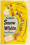 "Movie Posters:Animated, Snow White and the Seven Dwarfs (Buena Vista, R-1958). Poster (40""X 60"").. ..."