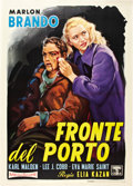 "Movie Posters:Drama, On the Waterfront (Columbia, R-1960). Italian 2 - Folio (39"" X55"").. ..."