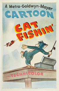 "Cat Fishin' (MGM, 1947). One Sheet (27"" X 41"")"