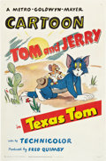 """Movie Posters:Animated, Texas Tom (MGM, 1950). One Sheet (27"""" X 41"""").. ..."""