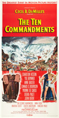 "Movie Posters:Historical Drama, The Ten Commandments (Paramount, 1956). Three Sheet (41"" X 81"")....."