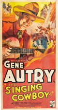 "Movie Posters:Western, The Singing Cowboy (Republic, 1936). Three Sheet (41"" X 81"").. ..."