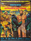 "Movie Posters:Science Fiction, Planet of the Apes (20th Century Fox, 1968). French Grande (47"" X63"").. ..."
