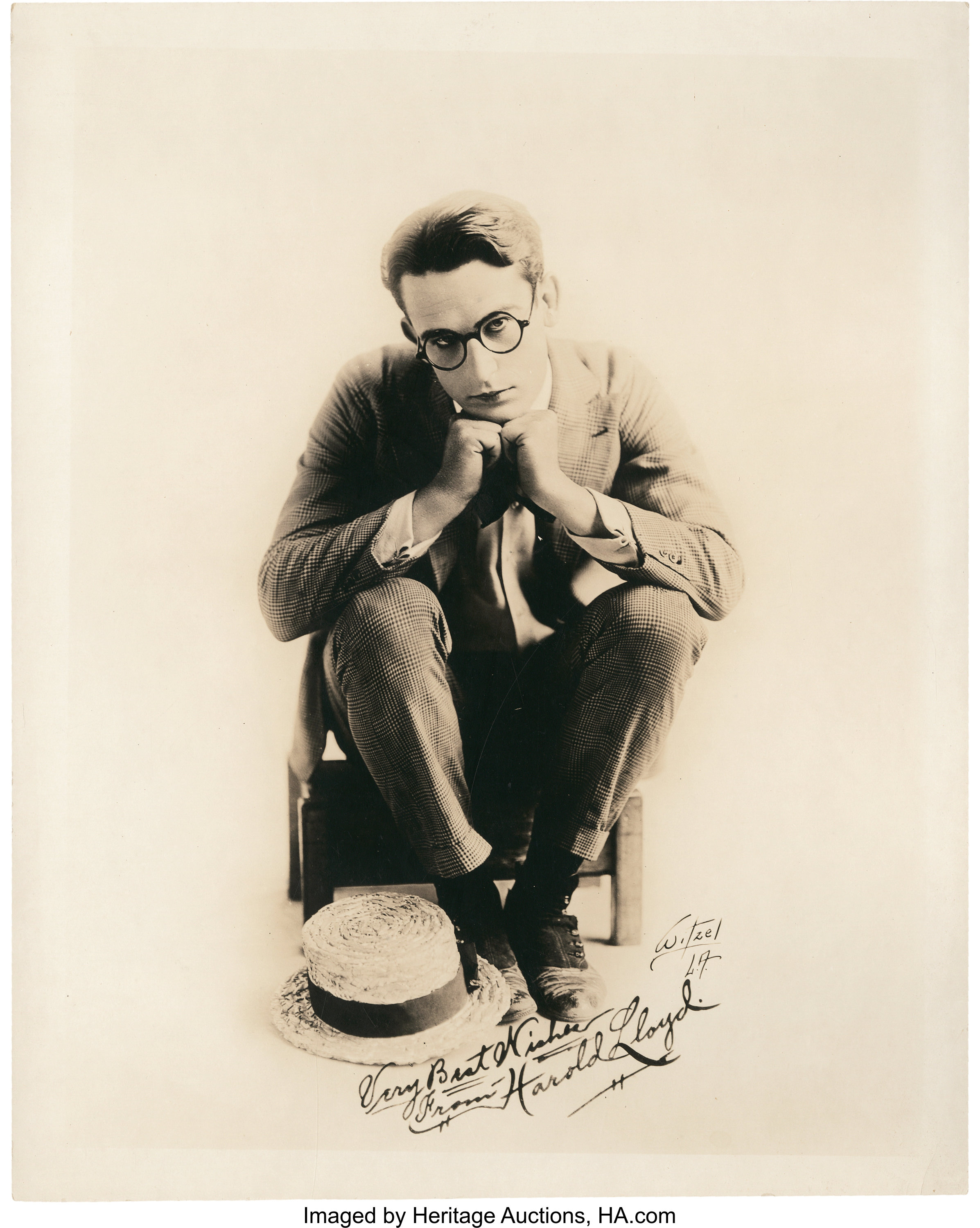 "Harold Lloyd by Witzel (1920s). Portraits (3) (8"" X 10"").. ... 