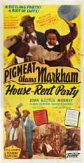 """Movie Posters:Black Films, House Rent Party (Toddy Pictures, 1946). Three Sheet (41"""" X 81"""")....."""