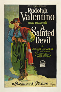 "A Sainted Devil (Paramount, 1924). One Sheet (27"" X 41"") Style A"