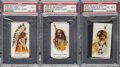 Non-Sport Cards:Lots, 1888 N2 A&G Indians Chiefs PSA-Graded Trio (3)....