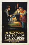 """Movie Posters:Serial, The Trail of the Octopus (Film Clearing House, 1919). One Sheet(27"""" X 41"""") Episode 15 -- """"The Yellow Octopus."""". ..."""